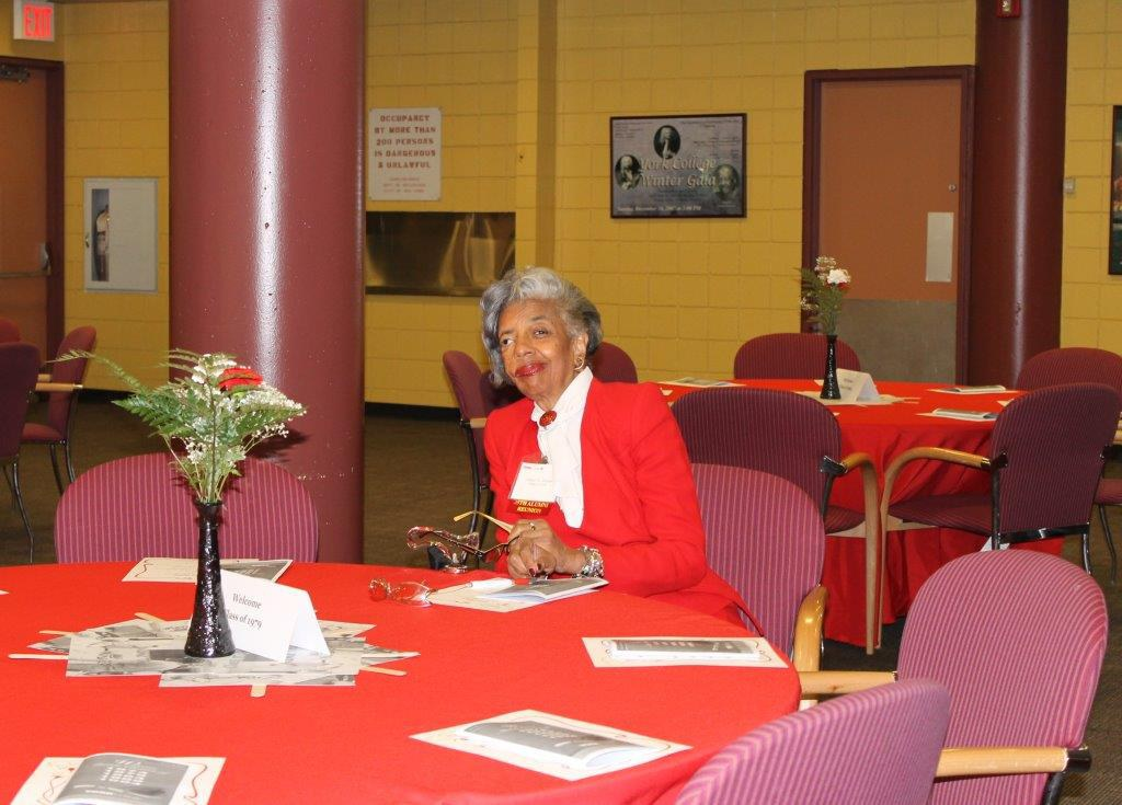Alum seated in Faculty Dining room