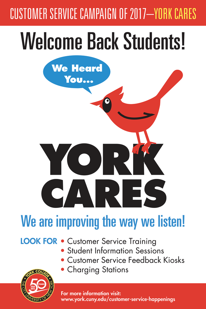 Customer Service  Campaingn of 2017 -York Cares
