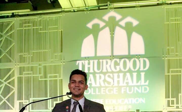Karan Patel speaking at Thurgood Marshall College Fund Gala