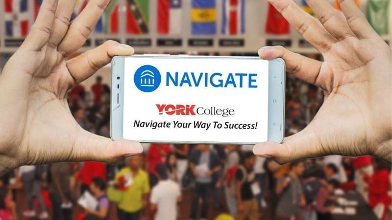 Navigate York College Marketing poster