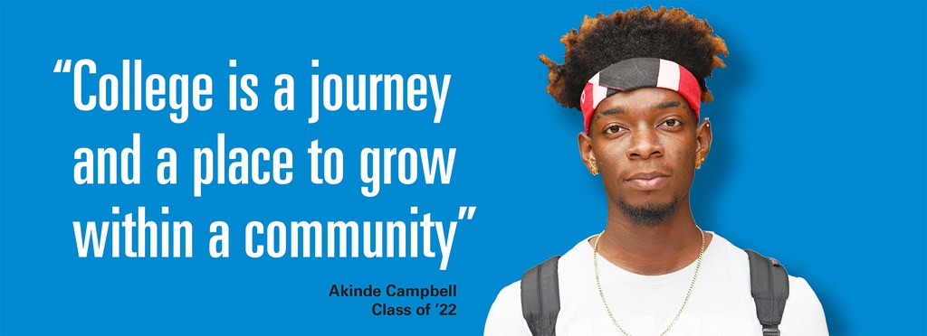 College is a journey and a place to grow within a community