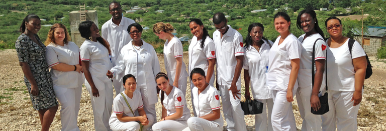Nursing Students in the Field
