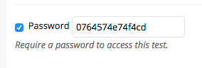 Password for connecting Respondus with Test