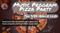 Music program pizza party