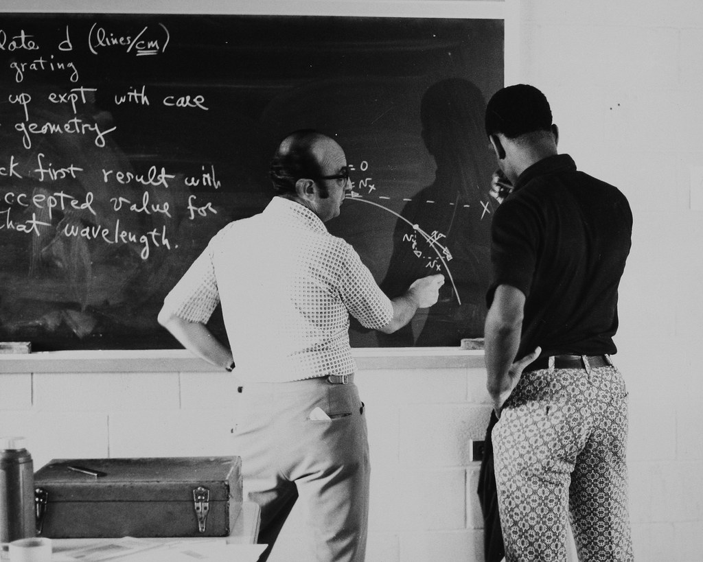 Professor Frank Pamilla and student 1970