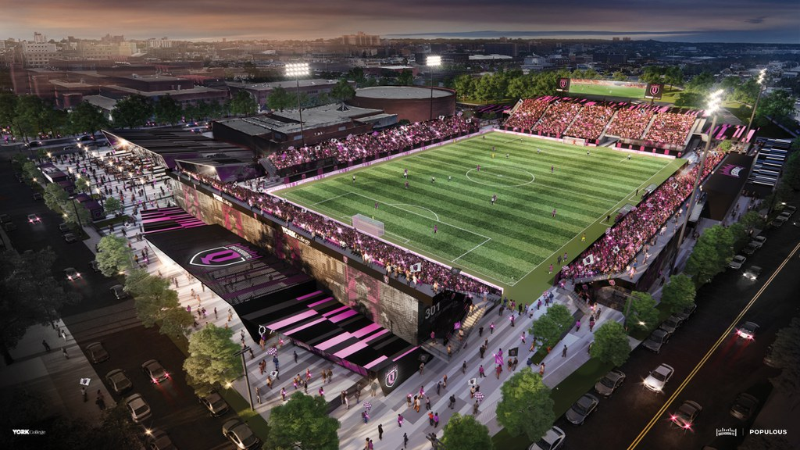 Queensboro FC stadium drawings