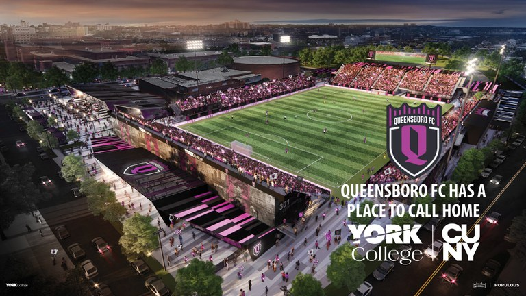 Queensboro FC has a place to call Home York College / CUNY