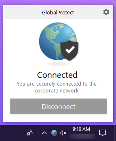 we're connected using GP ycvpn