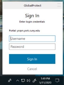 GP Configure Your Credentials