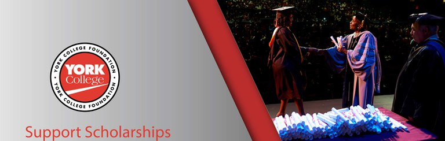 Banner for support scholarships