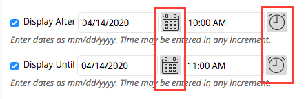 Set time interval when students can access the test