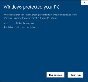 GP Installer Windows Protected PC Run Anyway
