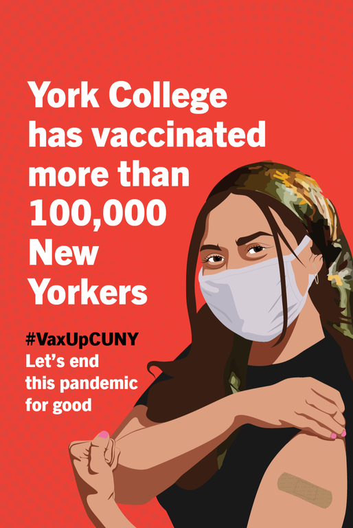 York College has vaccinated more than 100,000 New Yorkers #VaxUpCUNY let's end this pandemic for good