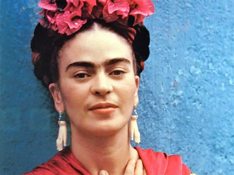 (born Magdalena Carmen Frida Kahlo y Calderón; July 6, 1907 – July 13, 1954) A Mexican painter known for her many portraits, self-portraits, and works inspired by the nature and artifacts of Mexico. Inspired by the country's popular culture, she employed a naïve folk art style to explore questions of identity, post-colonialism, gender, class, and race in Mexican society. Kahlo has been described as a surrealist or magical realist.
