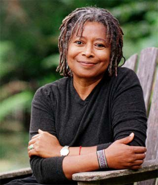 """(born February 9, 1944) An American novelist, short story writer, poet, and social activist. Walker became the first African American woman to win the Pulitzer Prize for fiction novel The Color Purple in 1982. She also wrote the novels Meridian (1976) and The Third Life of Grange Copeland (1970). An avowed feminist, Walker coined the term womanist to mean """"A black feminist or feminist of color"""" in 1983."""