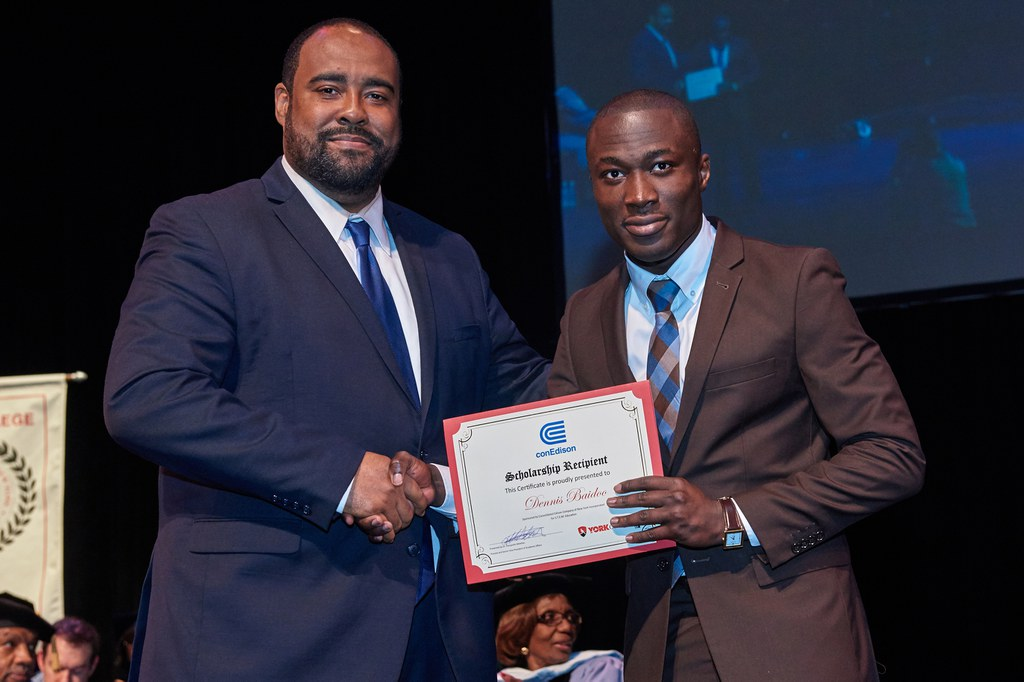 2017 Honors Recognition Ceremony, Con Edison Scholarship Recipient: Dennis Baidoo