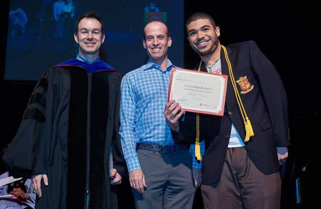 2017 Honors Recognition Ceremony, Eugene Levin Scholarship for Excellence in Science Recipient: Andre Barella