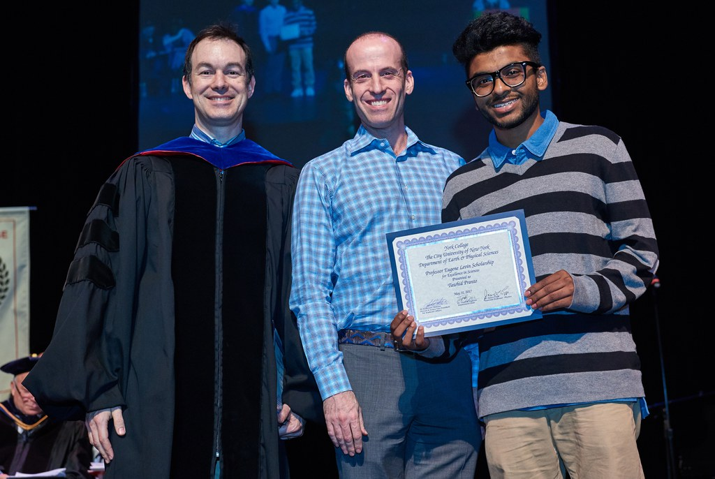 2017 Honors Recognition Ceremony, Professor Eugene Levin Scholarship for Excellence in Sciences Recipient: Tawhid Pranto