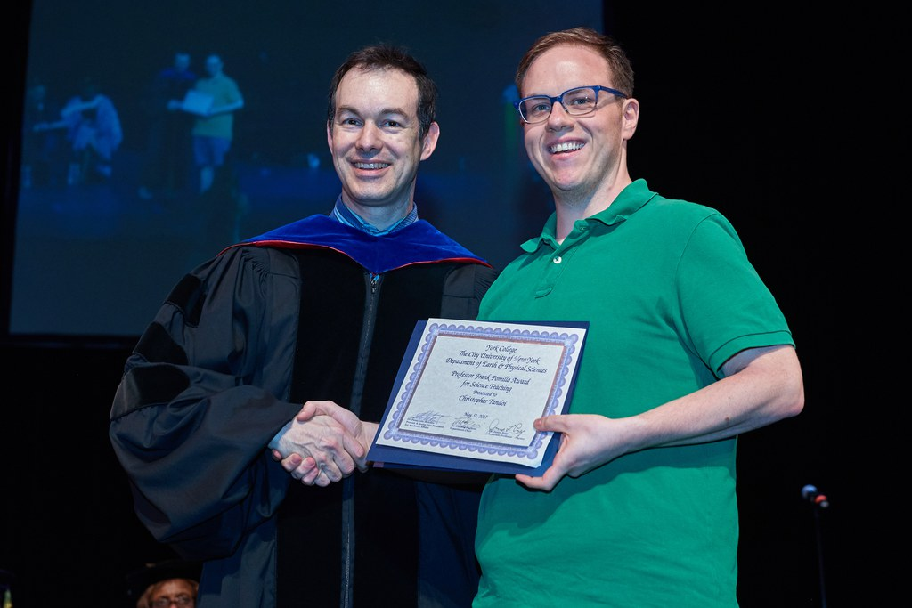 2017 Honors Recognition Ceremony, Professor Frank Pomilla Award for Science Teaching: Christopher Tandoi