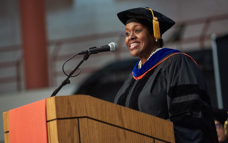 President Eanes During Convocation 2019