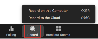 meeting recording button
