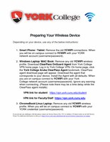 Preparing your wireless devices for York WiFi