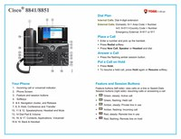 Quick Reference for Phones 8841/51