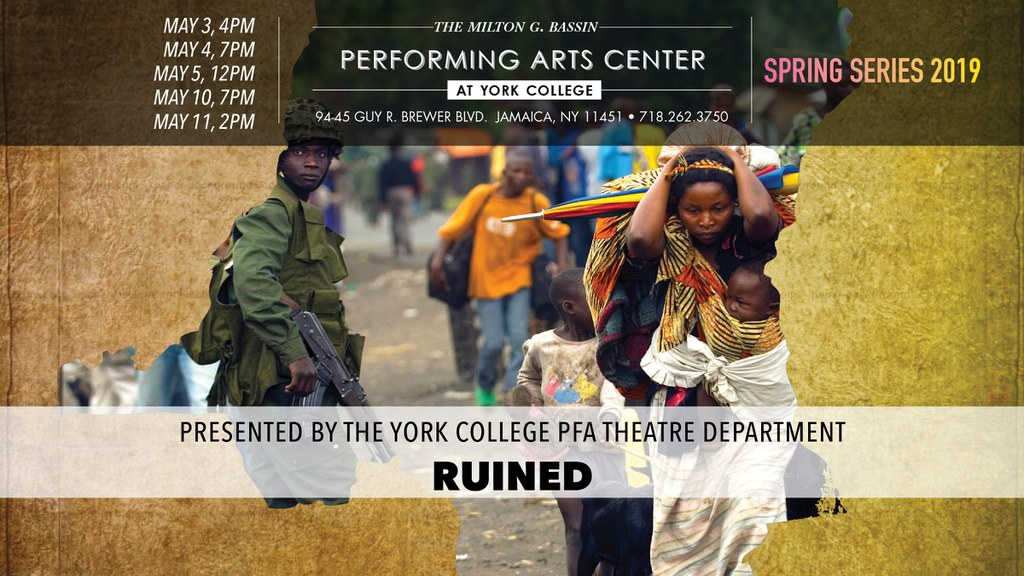 RUINED by Lynn Nottage Set in a small Congolese mining town on the edge of the rainforest, Lynn Nottage's Ruined presents a graphic portrait of women as the perennial victims of war.