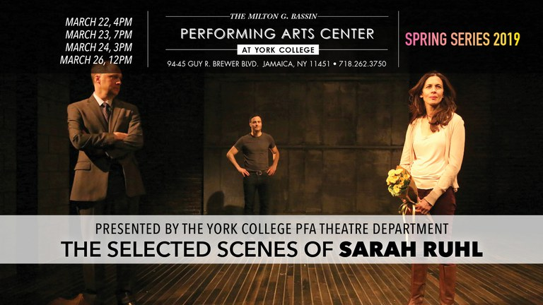 The Selected Scenes of Sarah Ruhl March 22nd @4pm