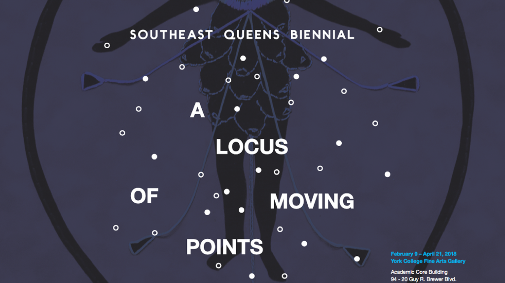 Poster for the Southeast Queens Biennial: A Locus of Moving Points
