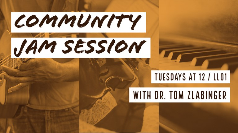 Promotional graphic for the Community Jam Session