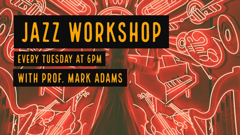 Promotional graphic for the Jazz Workshop
