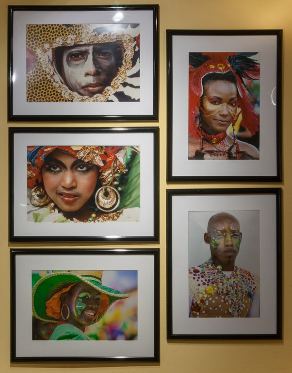 five photographs as installed in gallery