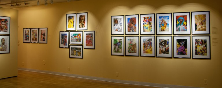 view #3 of gallery Installation looking south/southwest, multiple photographs