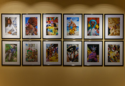 twelve photographs as installed in gallery