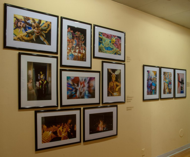 multiple photographs in small grouping of 8 and 3, gallery installation