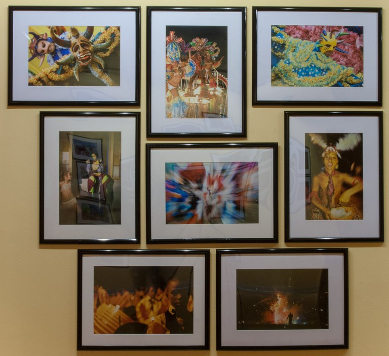 8 photographs as installed in gallery