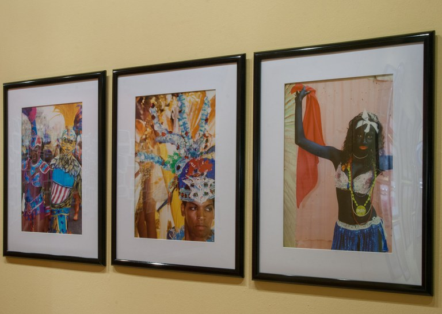 multiple photographs, gallery installation