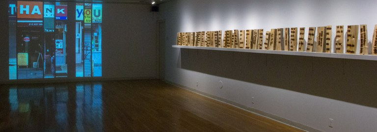 Gallery Installation view #1, multiple works, looking southwest