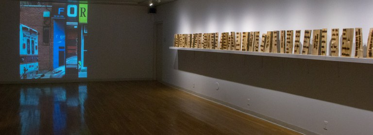 Gallery Installation view #2, multiple works, looking southwest