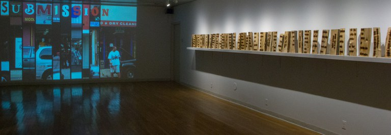 Gallery Installation view #3, multiple works, looking southwest