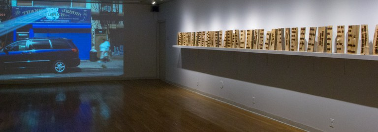 Gallery Installation view #4, multiple works, looking southwest