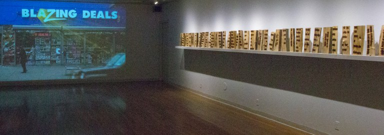 Gallery Installation view #5, multiple works, looking southwest