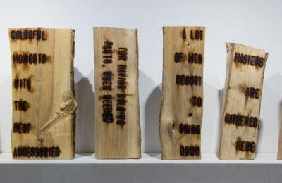 fire branded fire wood