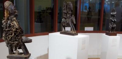 Gallery installation, multiple works