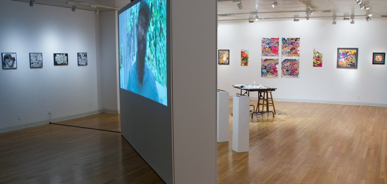 Gallery Installation view #1: looking SE, multiple works