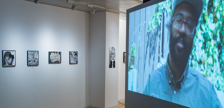 Gallery Installation view #2: looking SE, multiple works