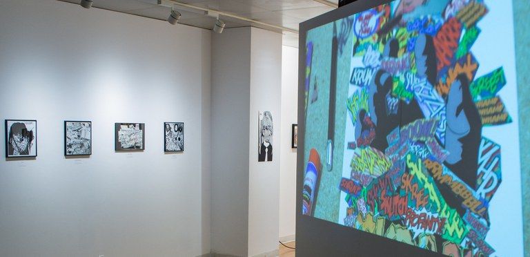 Gallery Installation view #3: looking SE, multiple works