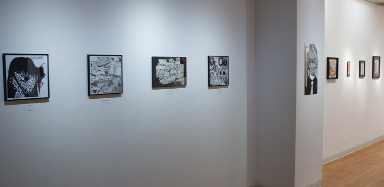 Gallery Installation view #4: looking SE, multiple works