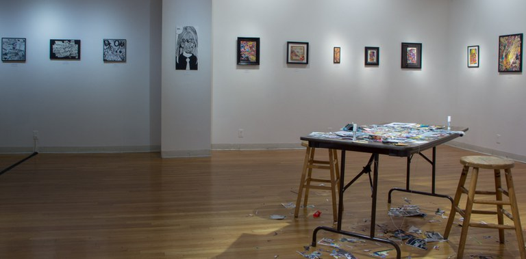 Gallery Installation view #5: looking E, multiple works